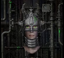 The Queen in the Machine by DeepBlueDesign