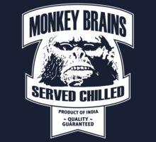 Monkey Brains (White Print) by GritFX