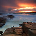 Bay of fires. Binalong Bay  by Donovan wilson