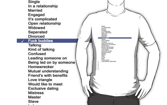 Relationship List T_Shirt by ANDIBLAIR