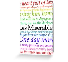 Les Miserables Lyric Design Greeting Card