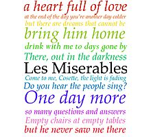 Les Miserables Lyric Design Photographic Print