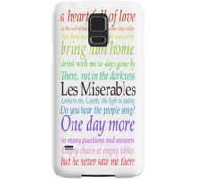 Les Miserables Lyric Design Samsung Galaxy Case/Skin