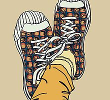 colored pattern gym shoes by OlgaBerlet