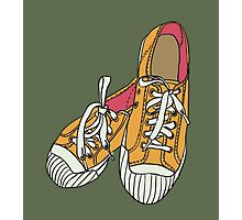 colored pattern gym shoes Photographic Print
