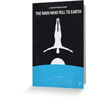No208 My The Man Who Fell to Earth minimal movie poster Greeting Card