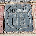 Oklahoma US 66 Shield on Route 66, Tulsa, OK by swtrekker