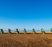 Cadillac Ranch on Route 66, on May 9, 2013, in Amarillo, TX by swtrekker