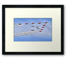 """Red Arrows And """"Eagle Squadron"""" Duxford 26.05.2013 Framed Print"""