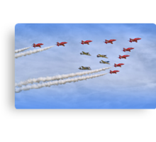 """Red Arrows And """"Eagle Squadron"""" Duxford 26.05.2013 Canvas Print"""