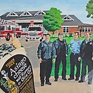 Mural - Fire Men House by AnnaAsche