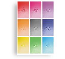 Wet heart - rainbow dash Canvas Print