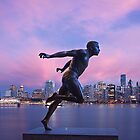 Vancouver Skyline with Harry Jerome by Paul Eekhoff