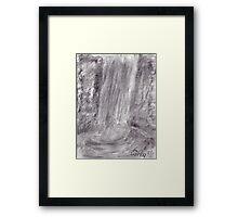 Dark waterfall Framed Print