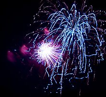 Fireworks - Fourth of July by Susanne Finke
