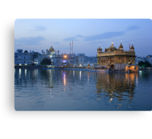 Golden Temple At Sunset Canvas Print