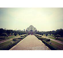 Lotus Temple Photographic Print