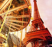Eiffel Tower and Carrousel Filtered by Heidi Hermes