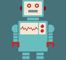 Robot graphic (Blue on blue) by janna barrett