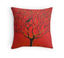 Currawong & Tree Throw Pillow