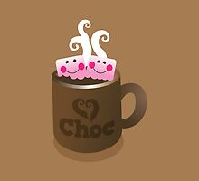 Hot Chocolate with seriously cutie Kawaii marshamallows by jazzydevil