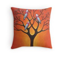 Galahs & Tree Throw Pillow
