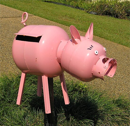 Pink Piggy # 5 by Penny Smith