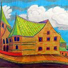 382 - BETHLEHEM CHAPEL, RHOSLLANERCHRUGOG - 02 - DAVE EDWARDS - COLOURED PENCILS - 2013 by BLYTHART