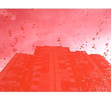 City After Rain (red) Photographic Print