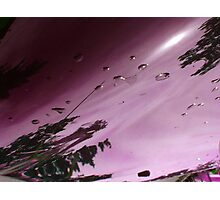City After Rain (purple) Photographic Print