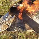 Flaming converse by Robert  Taylor