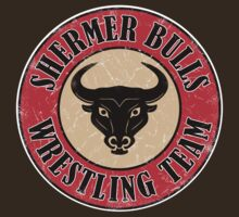 Shermer Bulls Wrestling Team (White Border) by GritFX