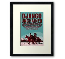 Django Unchained Movie Poster Framed Print
