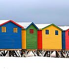 Muizenberg Beach Huts by fernblacker