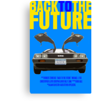 Back To The Future Movie Poster Canvas Print