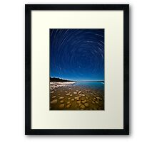 Thrombolite trails. Framed Print
