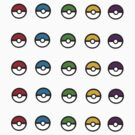 Mini Pokeballs Sticker Sheet. by Eugenenoguera