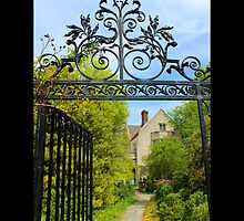 View On Coe Hall Historic House Museum Through Vintage Wrought Iron Gate - Upper Brookville, New York by © Sophie W. Smith