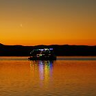 Party boat under the rising moon by SilverEye-RB