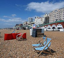 Brighton beach in May by Helen Haden