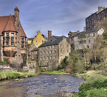Water of Leith at Dean Village, Edinburgh by Miles Gray