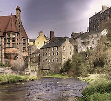 Water of Leith at Dean Village, Edinburgh (Panorama) by Miles Gray