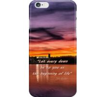 Sun dusk over Boston College  iPhone Case/Skin