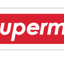 Superme Superman X Supreme Sticker