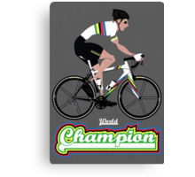 World Champion Cycling Canvas Print