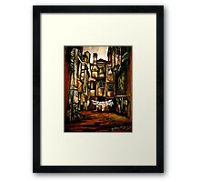 A Quiet City... Framed Print