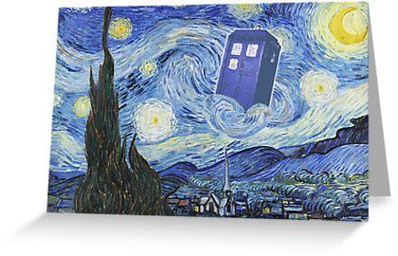 The Doctor Meets Van Gogh's Starry Night - Vincent Van Gogh Meets The Doctor by traciv