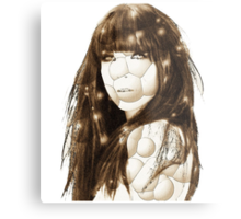 bubble girl Metal Print
