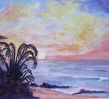 Tongaat Beach, Natal South Africa by Linda Ridpath