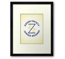 Zissou Society Junior Member Framed Print
